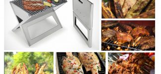 Prepare home made suya, roasted plantain, yam, barbecue fish and chicken with this portable grill.
