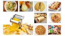 A Pasta Maker that allows you make home made spaghetti, meat pies, chin-chin, doughnut, egg roll, sausage roll and much more.